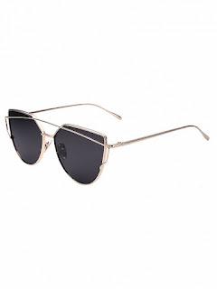 okulary kocie oczy, oprawki stalowe