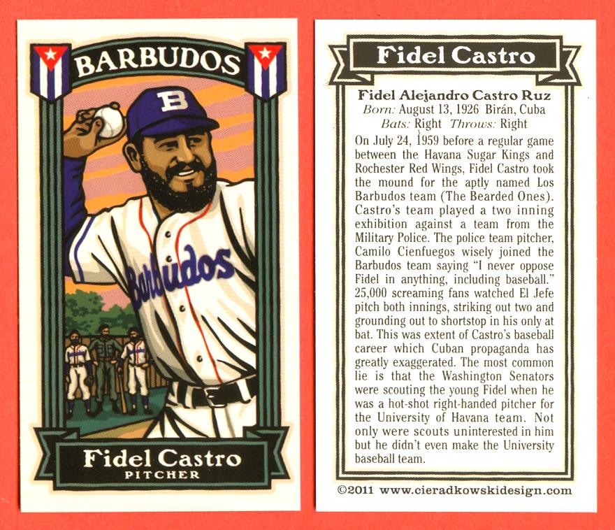 The Infinite Baseball Card Set Fidel Castro Baseball Card