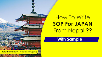 SOP For Japan Student Visa From Nepal