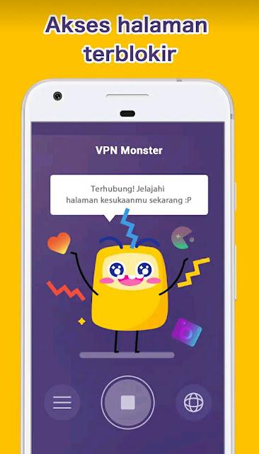 VPN Montser Mod Apk Premium VIP Unlocked