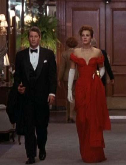 Vestido vermelho em Uma linda mulher