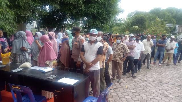 Terapkan Prokes Covid-19, Pasar Murah Bersubsidi Digelar di Kabupaten Aceh Utara
