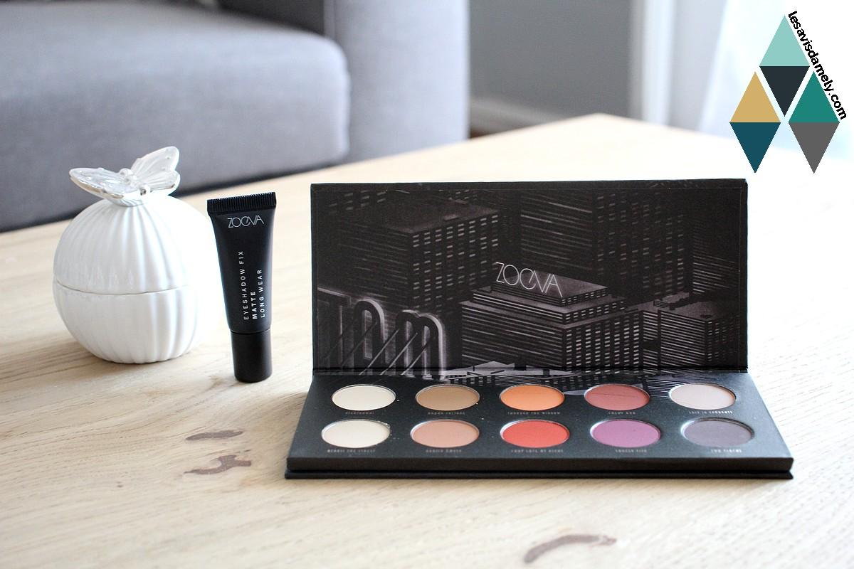 palette maquillage ombres à paupières zoeva