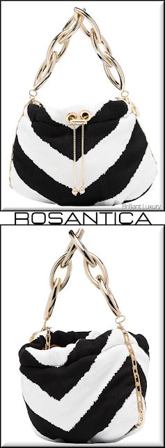 Rosantica black and white Bubble drawstring mini bag #bags #eveningbags #rosantica #brilliantluxury