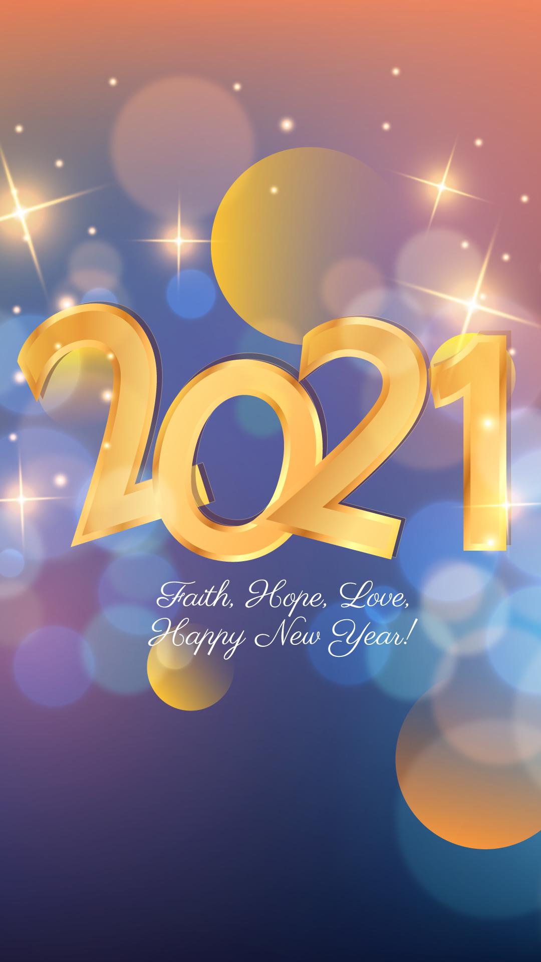 2021 Faith Hope Love Happy New Year