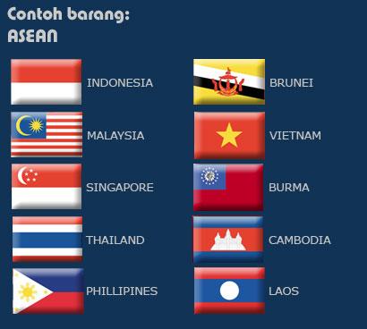 Gambar Bendera Negara Asean Gambar Bendera Negara