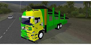 mod bussid truck hino tribal muatan berat
