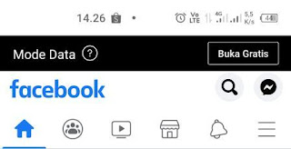 Cara Mengubah Facebook Gratis ke Mode Data
