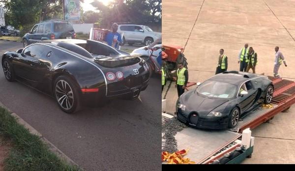 Zambians wowed after spotting $3m Bugatti Veyron at Airport