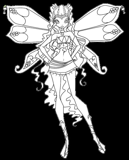 odlotowe winx kolorowanki: enchantix