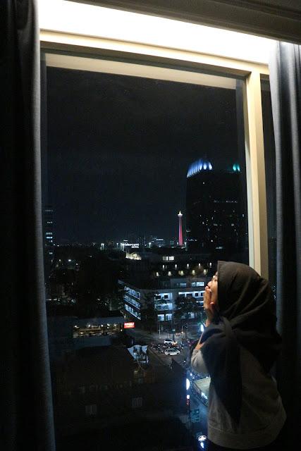 View jakarta di malam hari yang indah