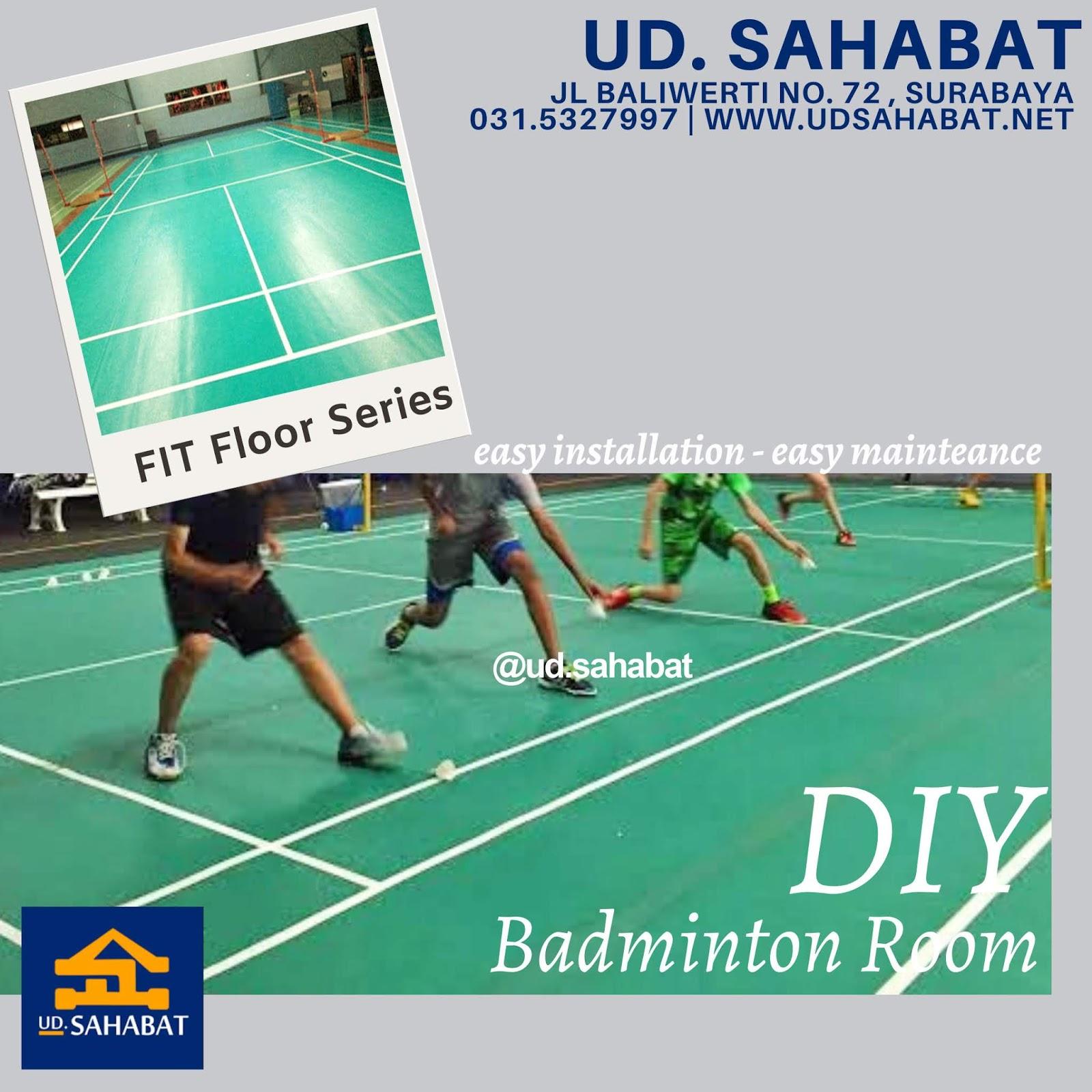 jual karet lantai lapangan badminton ud sahabat baliwerti surabaya