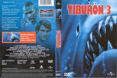 Carátula dvd: Tiburón 3 (1983) Jaws 3 - El gran tiburón - Tiburón 3-D
