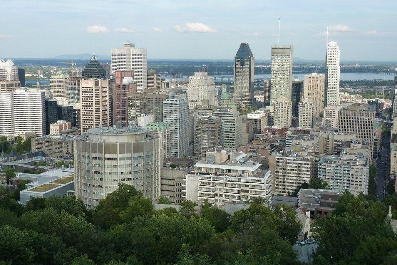 skyline Montreal Canada