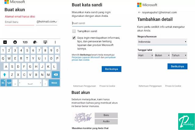 Cara Membuat Hotmail Lewat HP