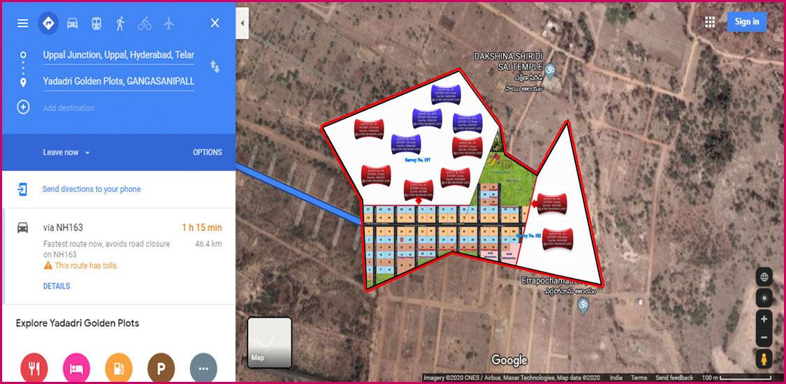 Google Maps satellite images