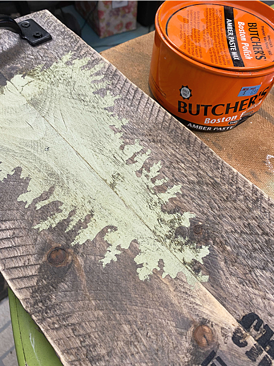 Butcher's wax to protect the wood
