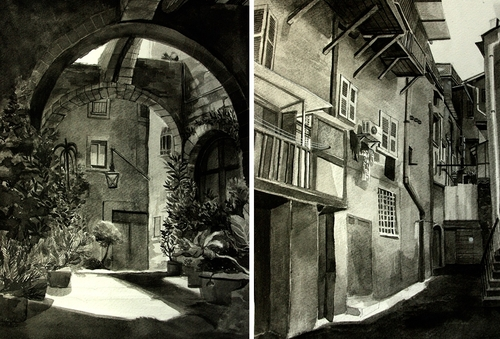 00-Malisa-Suchanya-Enchanting-Architectural-Drawings-of-Viterbo-Italy-www-designstack-co