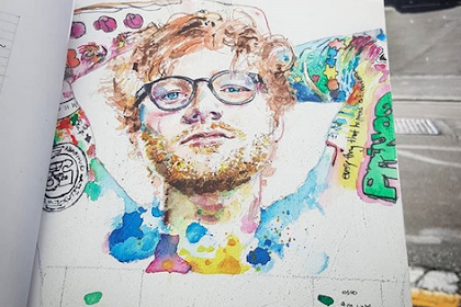An artist painted Ed sheeran in new zealand and it's incredible! x