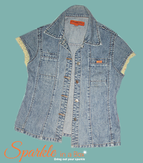 DIY denim blouse