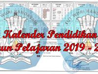 Kalender Pendidikan Tahun Pelajaran 2019 - 2020 Seluruh Indonesia