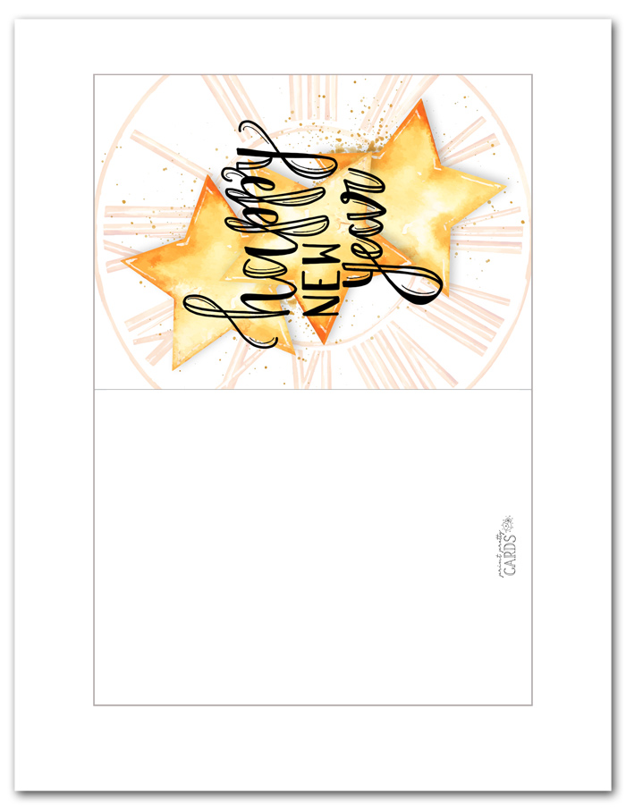 Greeting Cards for New Year's