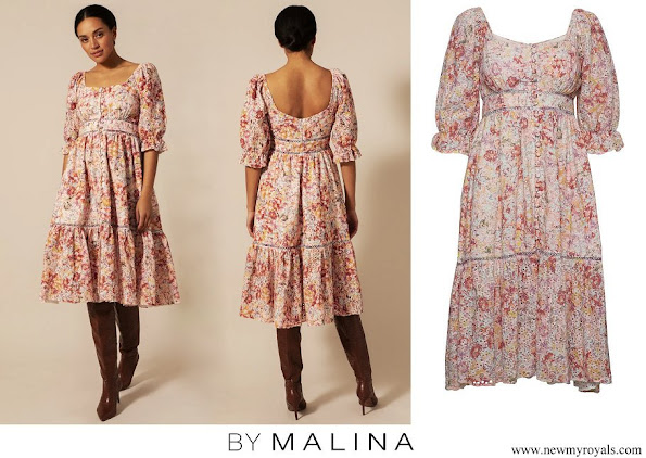 Princess Madeleine wore By Malina Gloria Sorbet Floral Dress