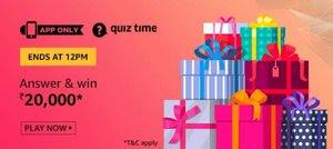 Amazon Quiz 25 November 2019 Answer Today | Win Rs.20000 Amazon Pay Balance