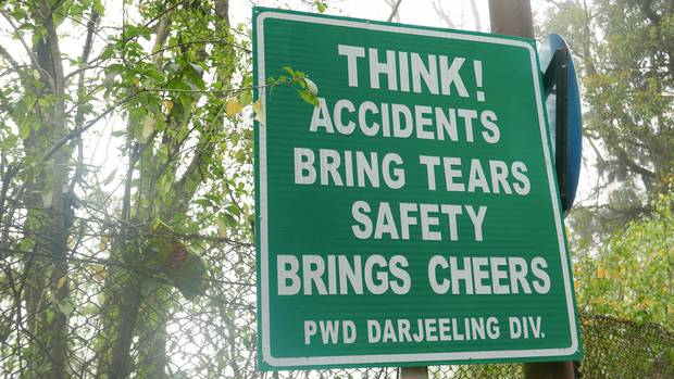 Accidents bring tears. safety brings cheers