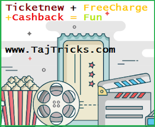 Ticketnew FreeCharge Offer 10% Cashback
