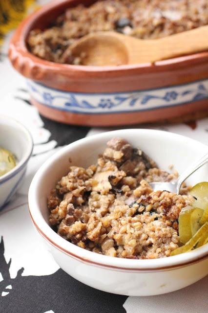kasha recette champignons beurre creme