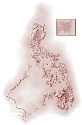 Bentang alam negara filipina - peta filipina