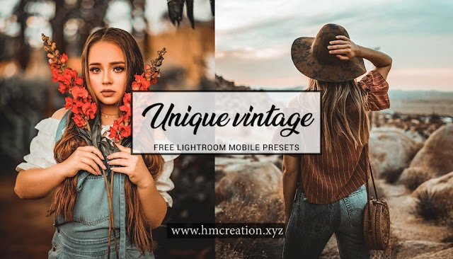 Unique vintage lightroom mobile presets free download