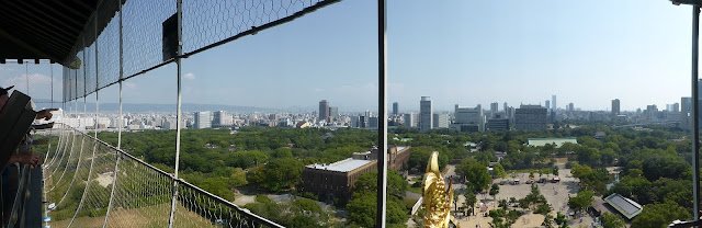 Vista panorámica desde el Castillo de Osaka