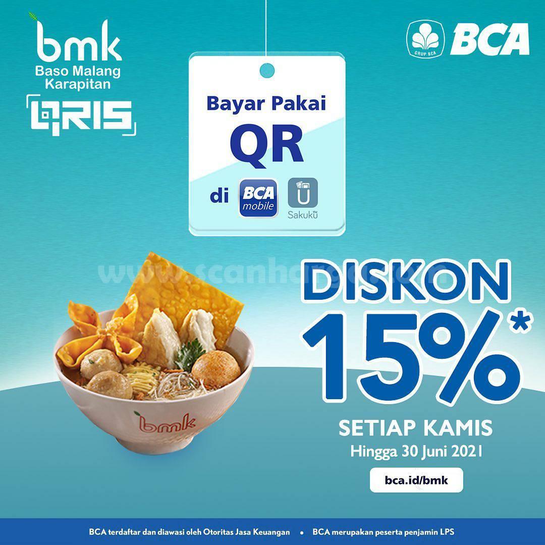 BMK Baso Malang Karapitan Promo DISKON 15%! dengan Qris BCA Mobile dan Sakuku