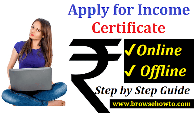 ncome Certificate Online Application