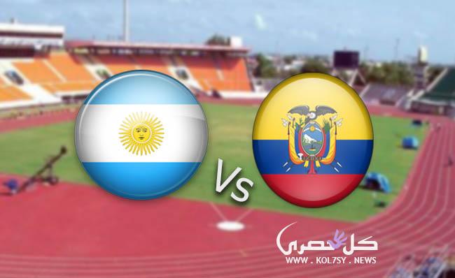 نتيجة مباراة الارجنتين والاكوادور اليوم 3-1 بقدم ميسي في تصفيات كأس العالم 2018