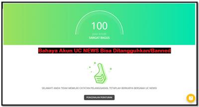 Cara Agar Akun Uc News Tidak Kena Banned