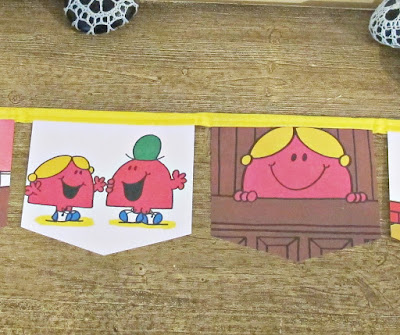 image bunting banner garland little miss chatterbox mr men domum vindemia handmade on etsy for children