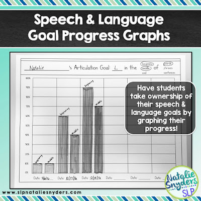 FREE goal progress monitoring graphs for any speech and language goal!