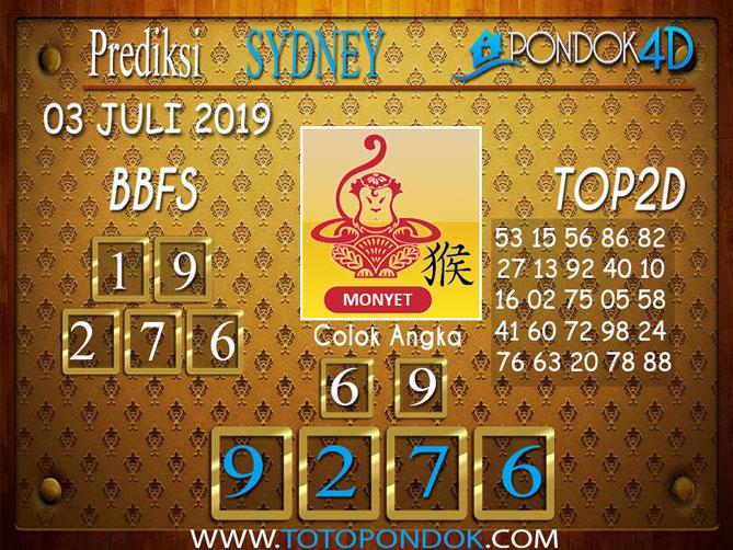 Prediksi Togel SYDNEY PONDOK4D 03 JULI  2019
