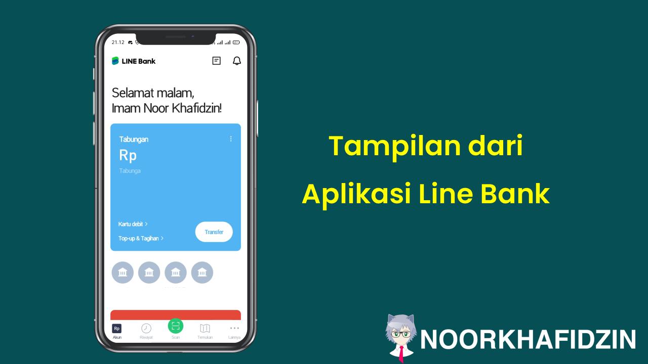 tampilan dari aplikasi line bank
