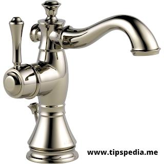 polished nickel bathroom faucet
