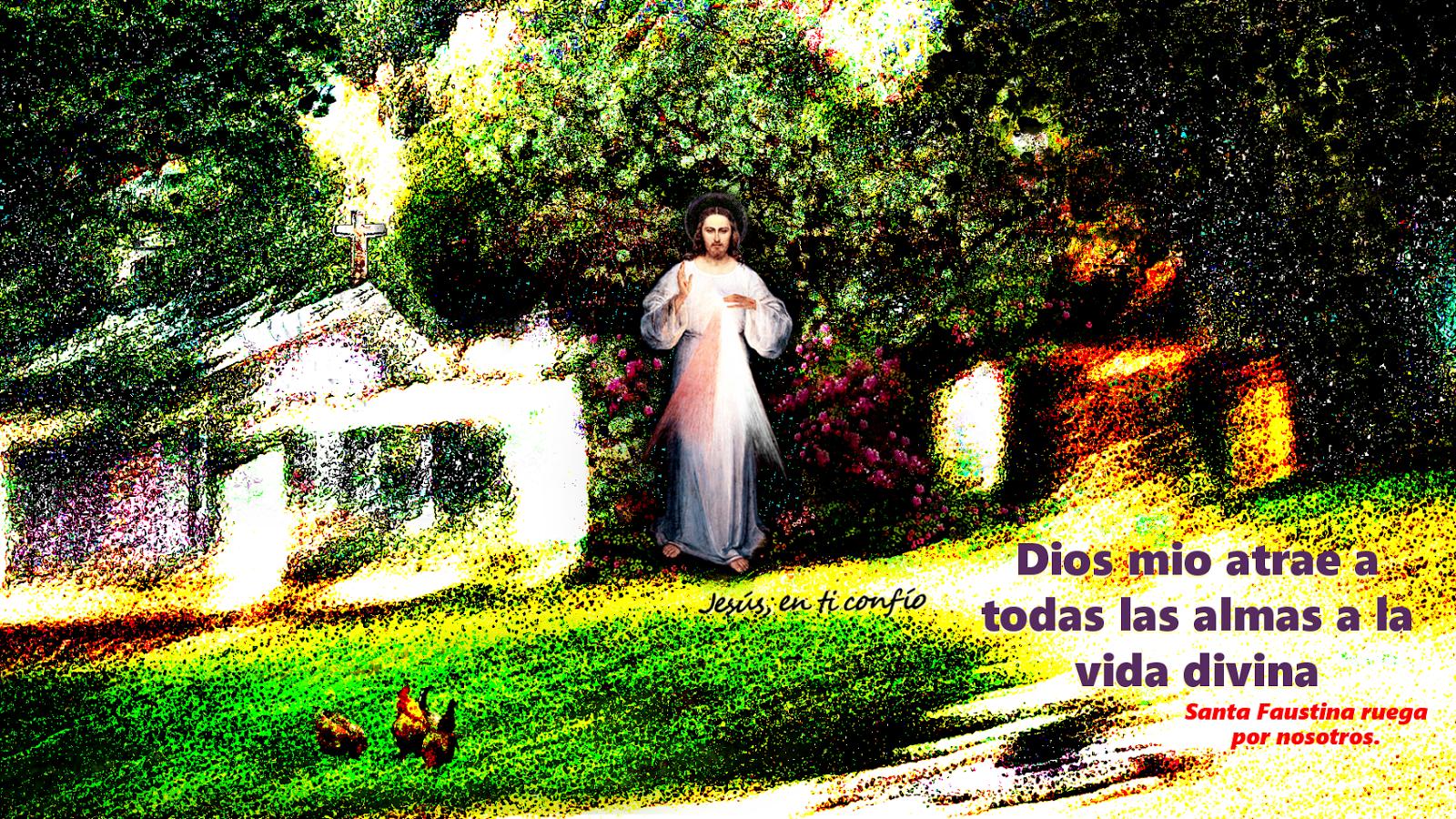 divina misericordia en las afuras de una iglesia