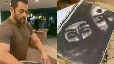 Salman Khan showed his sketch skills while staying at home