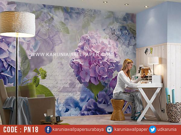 jual photowall bunga surabay