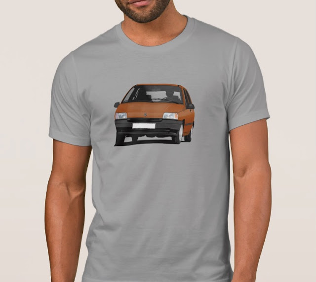 Zazzle Renault Clio illustration t-shirts orange