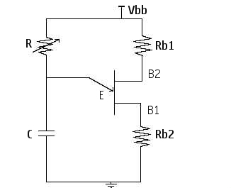 the fig shows the circuit diagram of ujt relaxation oscillator