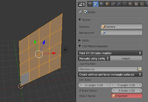 A Script to Import a CSV File and Create Meshes (for Blender