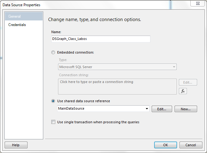 Business Intelligence: SSRS: Use single transaction when processing